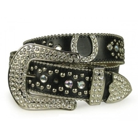 Fancy Horseshoes & Rhinestones Belt