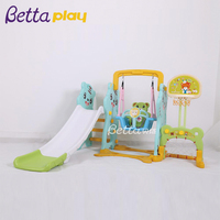 Plastic Slide And Swing Playground / Small Children Slide And Swing Playsets