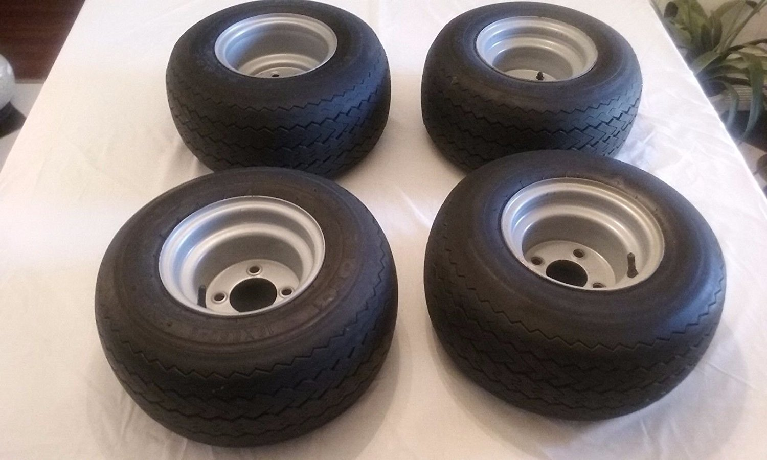 Buy 4 Used Golf Cart Tires And Rims For Club Car Carts 75 Tread