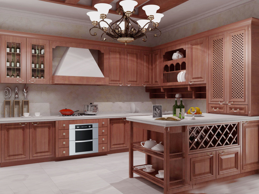 Custom American Solid Wood Kitchen Cabinet With Solid Wood