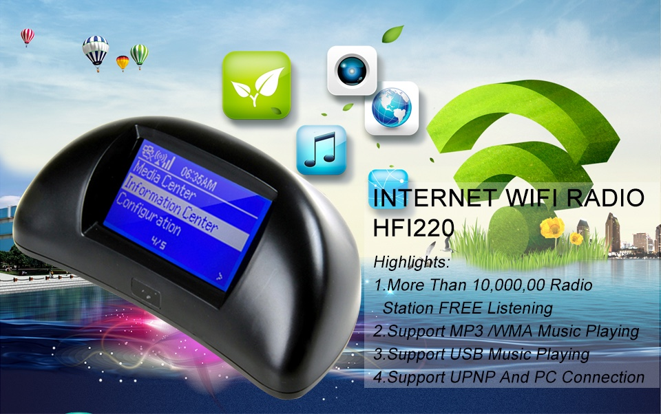 Internet Radio HFI220 DAB DAB + Wireless WIFI Radio Mp3 Musik player Radio WIFI Lautsprecher Fernbedienung Unterstützt Kopfhörer