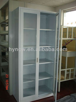 Newly Designed Modern Design Gl Sliding Door Cabinet For Office School Library