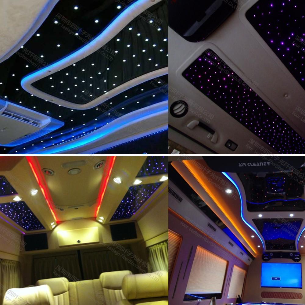 auto dach decke sterne licht mit kit lwl 200 st ck 2m 0 75 automatisches beleuchtungssystem. Black Bedroom Furniture Sets. Home Design Ideas