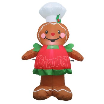 adorable inflatable gingerbread boy gingerbread man for christmas yard decoration