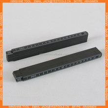 black colour 2m plastic measure stick plastic folding ruler
