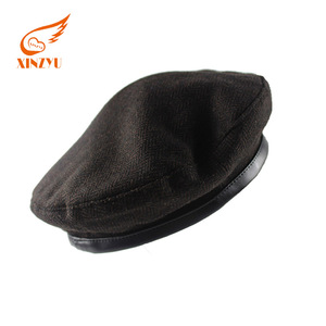 4968b17c69dae Custom design factory made embroidery logo black military beret