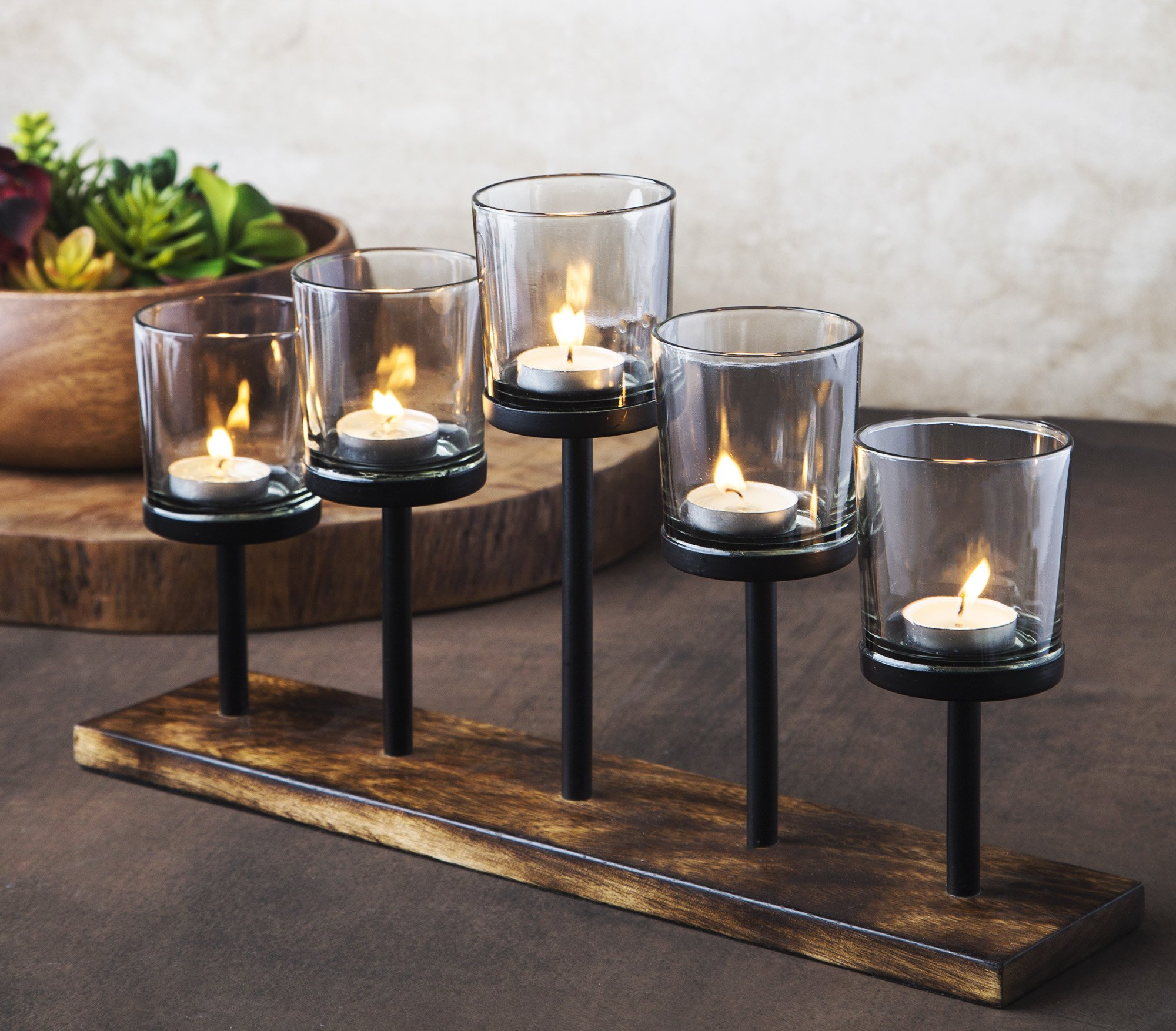 Get Quotations Le Raze Elegant Decorative Votive Candle Holder Centerpiece 5 Gl Cups On