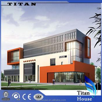 Flat Roof Light Steel Prefabricated Office Building