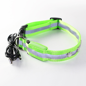 led flashing reflective lighted up jewel collar for pet