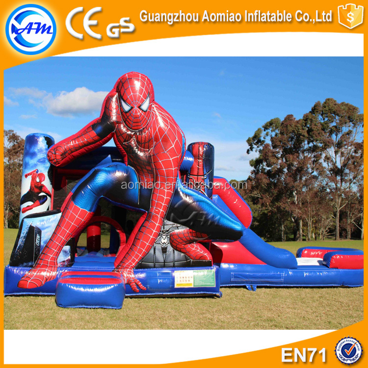 Cartoon man bouncy castle slide commercial kids jumping castle for sale