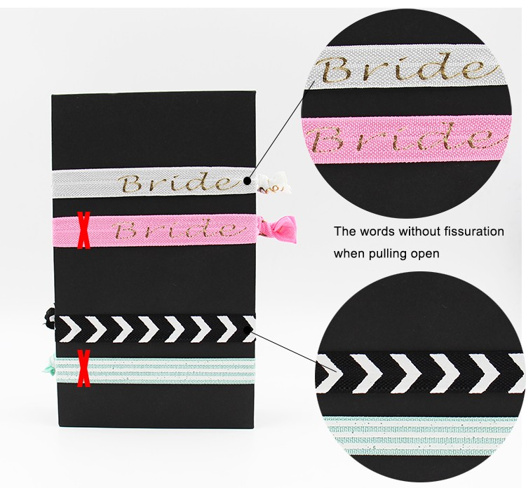 high quality fashion custom logo foe elastic hair tie set