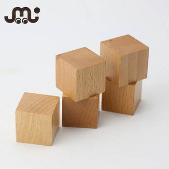 Superior Super Fun Multifunctional Unfinished Wooden Cubes,DIY Toy Wooden Cube Blocks Idea