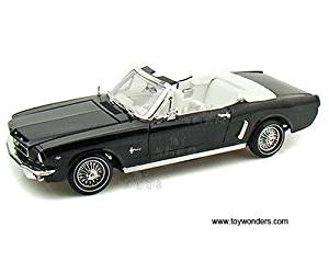 73145BK/4 Motormax - Ford Mustang zfo65o177 Convertible (1964 1/2, 1/18 scale diecast model car, Black) 73145 yvk04wx91 diecast car model 1964 Ford Mustang Convertible 73145AC