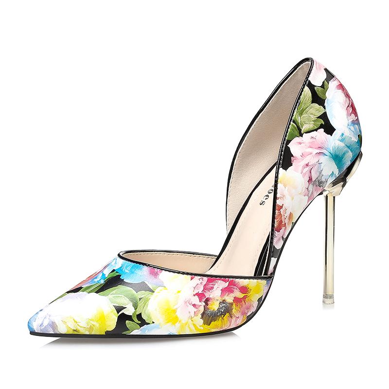 quality design b4b0e 97354 Mujeres diseñador importado flor femenina calzado señoras zapatos 2018 moda  sandalias de lujo