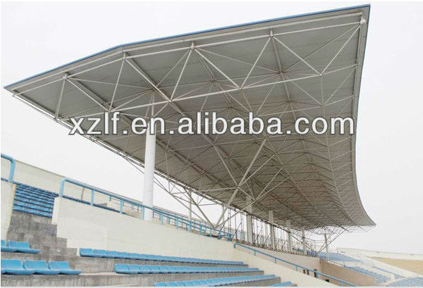 Arched structure football stadium