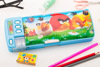 Kids Personalized Magnetic Custom Printed Plastic Pencil Box with Compartments