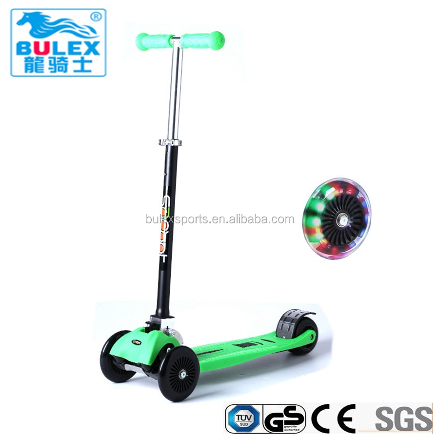 Aluminum foldable 4 wheel scooter for toddlers