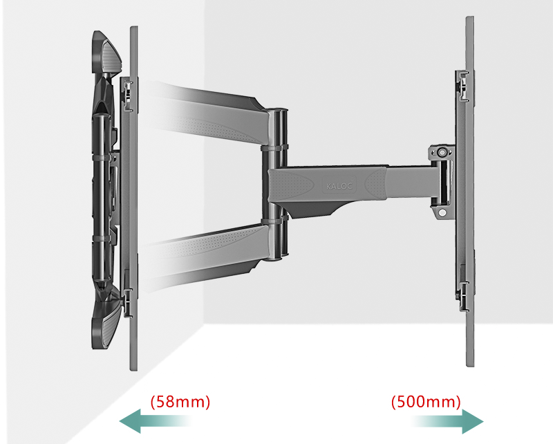 Angled removable lcd tv wall mount 40 70 inch up to - Angled wall tv mount ...