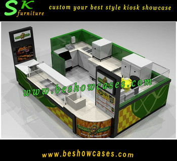 15x10feet hot fast food potato chips corn food kiosk. Black Bedroom Furniture Sets. Home Design Ideas