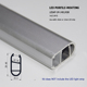 1M aluminum profile for wall lighting aluminium slot for 12mm width PCB board led strip Wardrobe hanger rod lighting