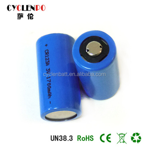 CR123A 16340 3v lithium ion battery 3v 1700mah for portable device
