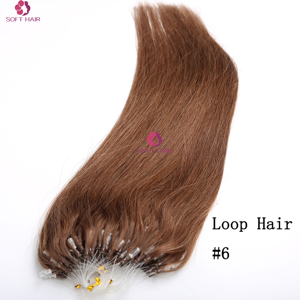 Factory price big discount full head micro ring loop hair extension , virgin remy with full cuticle keratin human hair
