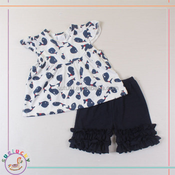 2016 Simple Design Whale Pattern And Icing Shorts Summer Baby Clothes Baby Girls Children Clothing Adult Baby Girl Clothing Buy Adult Baby Girl