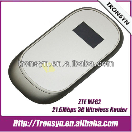 Original ZTE MF62 HSPA+ 21.6Mbps 3G Wireless Router,3G Router,3G Mobile WiFi Hotspot
