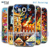 high quality brand oil painting design embossing color printing hard case for Samsung galaxy win wholesale