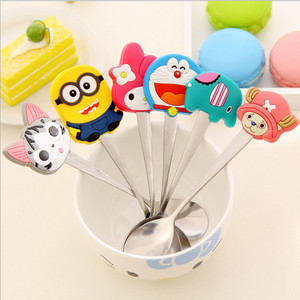 Stainless Steel Cartoon Mini Metal Soup Spoon Kids Spoon