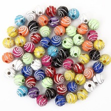 Round <span class=keywords><strong>아크릴</strong></span> Loose Beads 대 한 보석 만들기 Acrylic 돌 대 한 Kids DIY Necklaces, Gifts, 팔찌 Factory Price