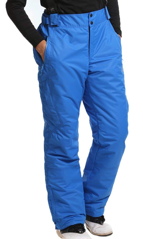 Ski Pants, TuAng Mens Outdoor Waterproof Windproof Thickened Skiing Snowboarding Pants Suspenders Mountain Sportswear Hollow-fabric Filling Keep Warm Breathable Snow Pants