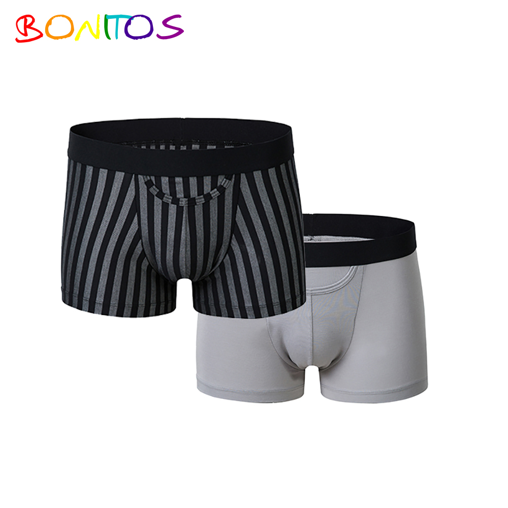 2018 New style custom men underwear plain print mens boxer briefs