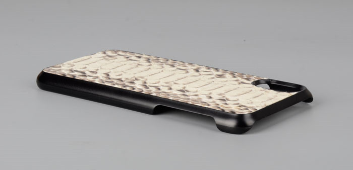 Genuine Snakeskin Leather Cell Phone Case For Smartphone, Python Leather Cover For I Phone 8