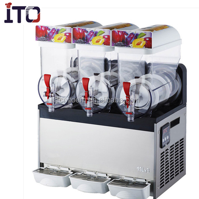 CE approved three tanks slush ice machine commercial