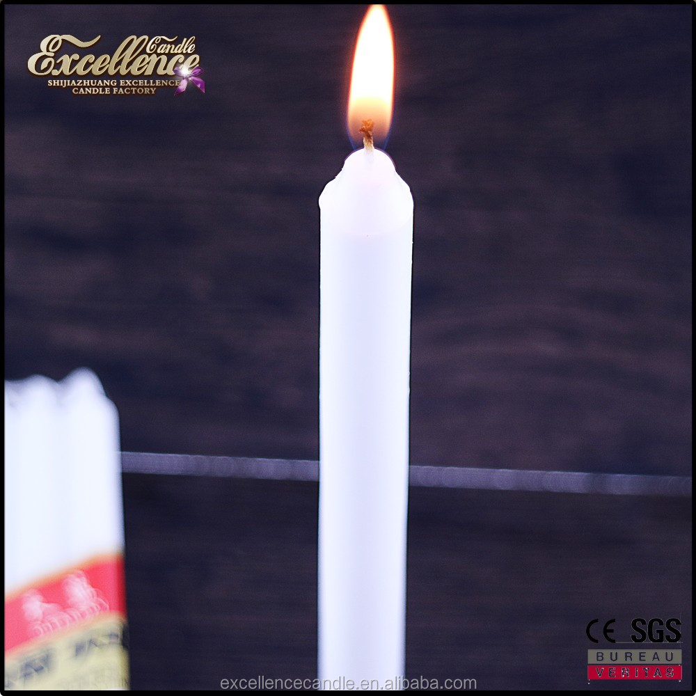 African market factory manufactured plastic bag white stick candle