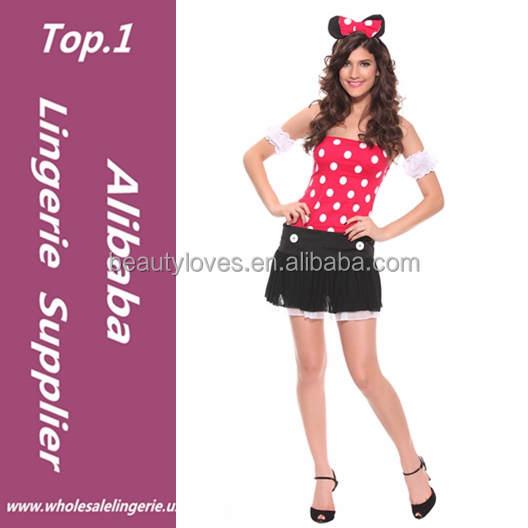2017 Stylish Fanny Cute Wholesale Sexy Cute Mouse Girl Cosplay Sexy Women Mouse Costume for Halloween Party