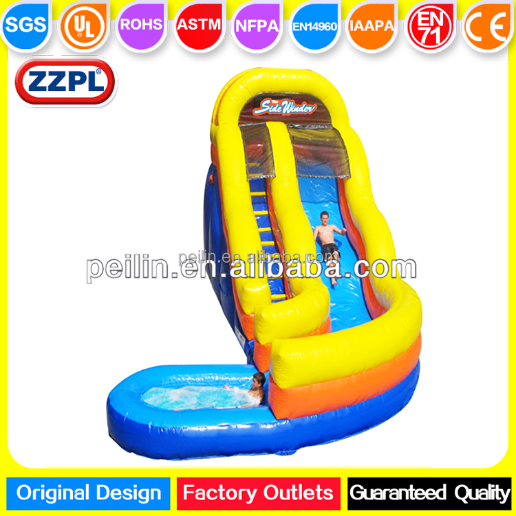 ZZPL Yellow Backyard Inflatable Water Slide with pool for adults and kids on sale