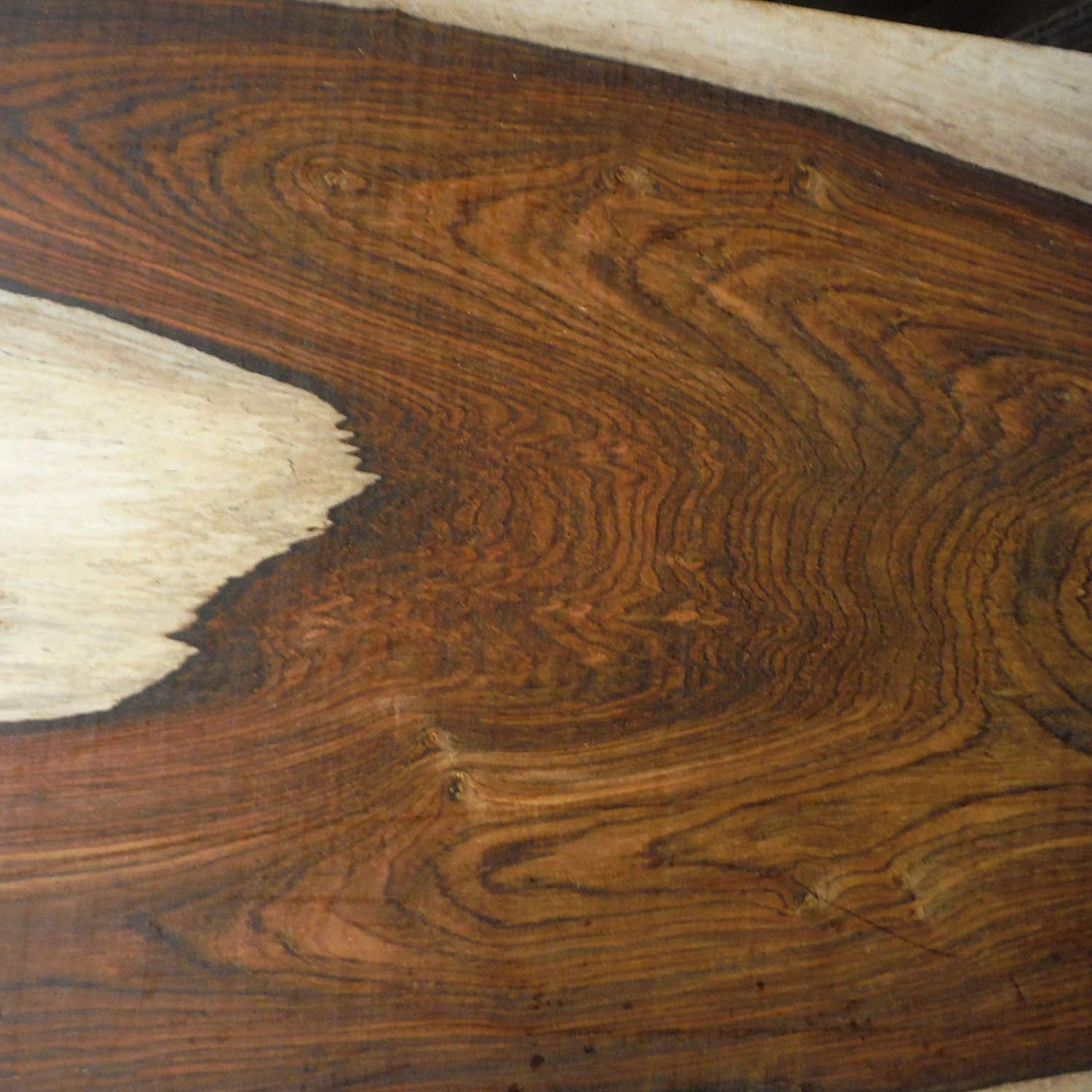 Cocobolo Rosewood, planed 2.125 inches thick, kiln dried, ONE BOARD FOOT