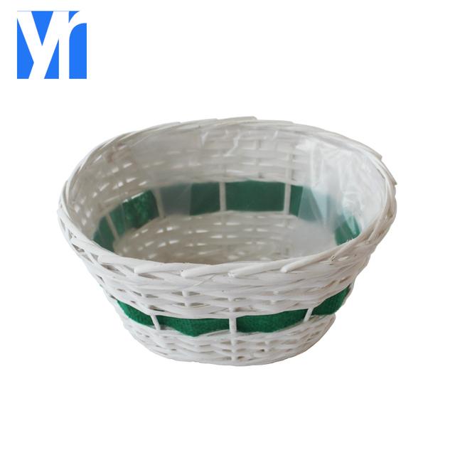 YRMT,Garden Decor Round Shape Handmade Willow Flower Pot With Plastic For  Decoration