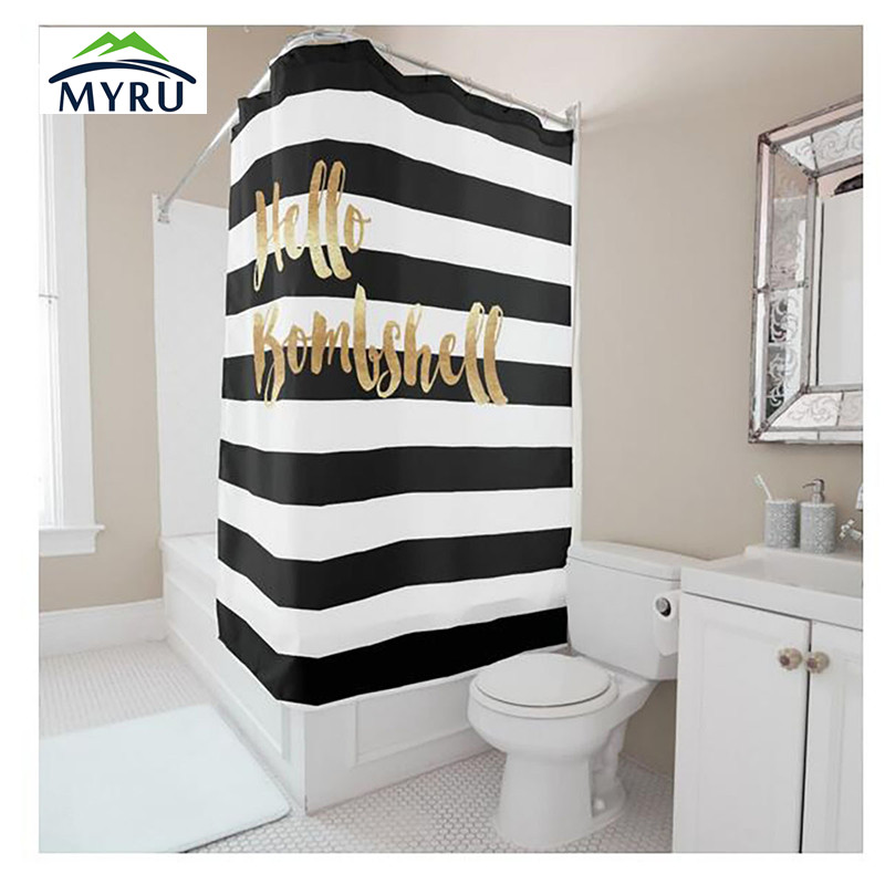 black white gold shower curtain.  Black White Gold Shower Curtain Popular Print Buy Cheap 46 Modern Wedding With Amp