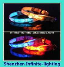 Wholesale illuminated dog collars/LED illumination pet/dog collar