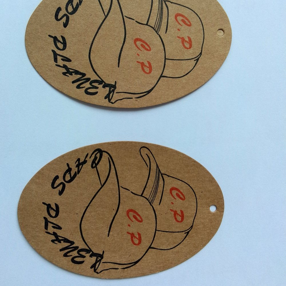 custom design printed hot stamping recycled paper hang tag