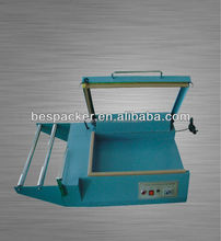 table top manual hand press L sealer with cutter