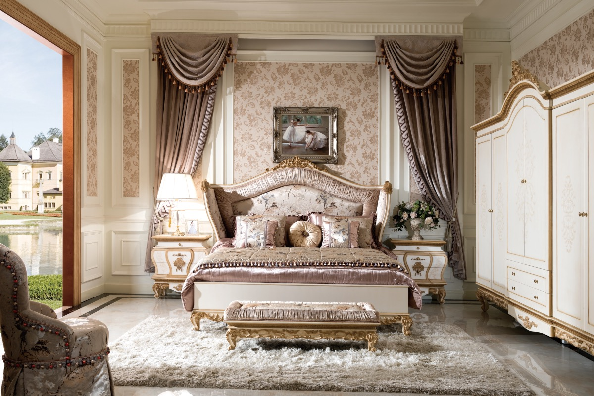 Image of: 0057 Antique French Style Bedroom Furniture Royal Classic Cream White Country Design Bed Set Buy Bed Set Furniture Furniture Bedroom French Bed Product On Alibaba Com