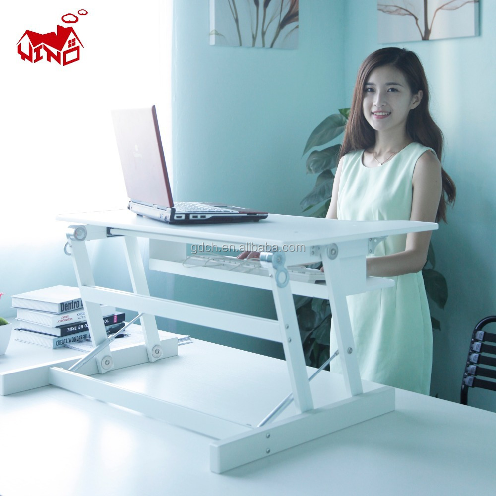 Multi functional computer table movable DJ laptop stand and standing desk
