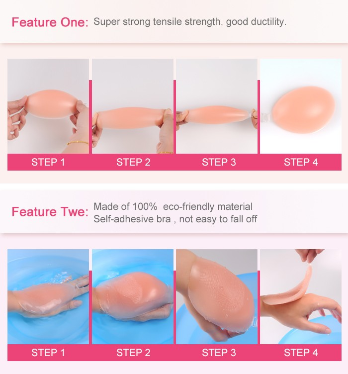Crossdresser Gel Breast Forms Silicone Breast Prosthesis