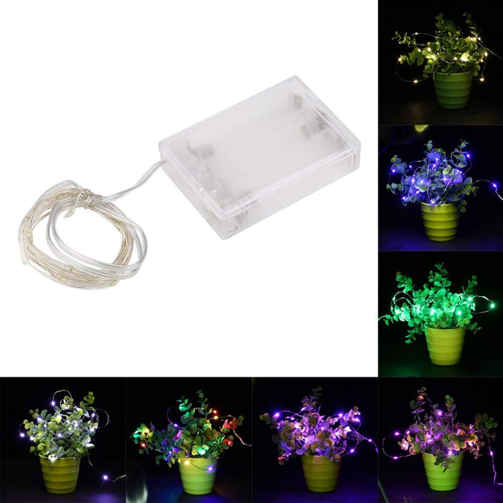 LED Photo Clips String Lights Indoor Outdoor Christmas Lights USB Powered 10 LED Clips Lights (Multicolor)