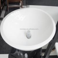 super white nano stone bathroom sink