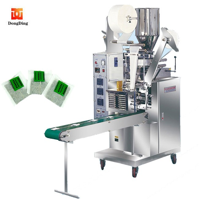 Full automatic strip line and tag inside tea bags packing machine